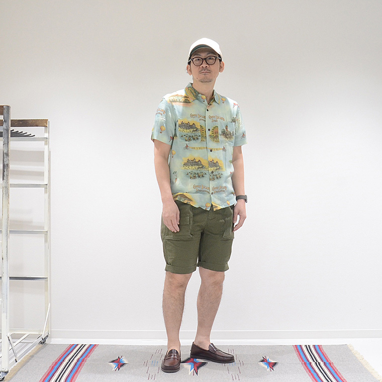 EMPIRE & SONS (エンパイア アンド サンズ)  EXPEDITION SHORT GERMAN MILITARY STRETCH TWILL BIO WASH - OLIVE