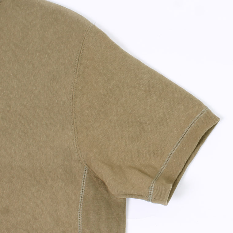 FELCO (フェルコ)  S/S INVERSE WEAVE SWEAT 12oz LT WEIGHT FRENCH TERRY - BRITSH KHAKI