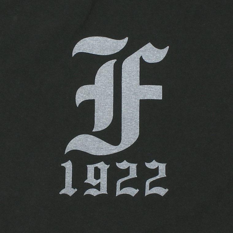 FELCO (フェルコ) S/S HI CREW T-SHIRT 30s USA COTTON w/PRINT OLD ENGLISH F 1922 - BLACK_WHITE