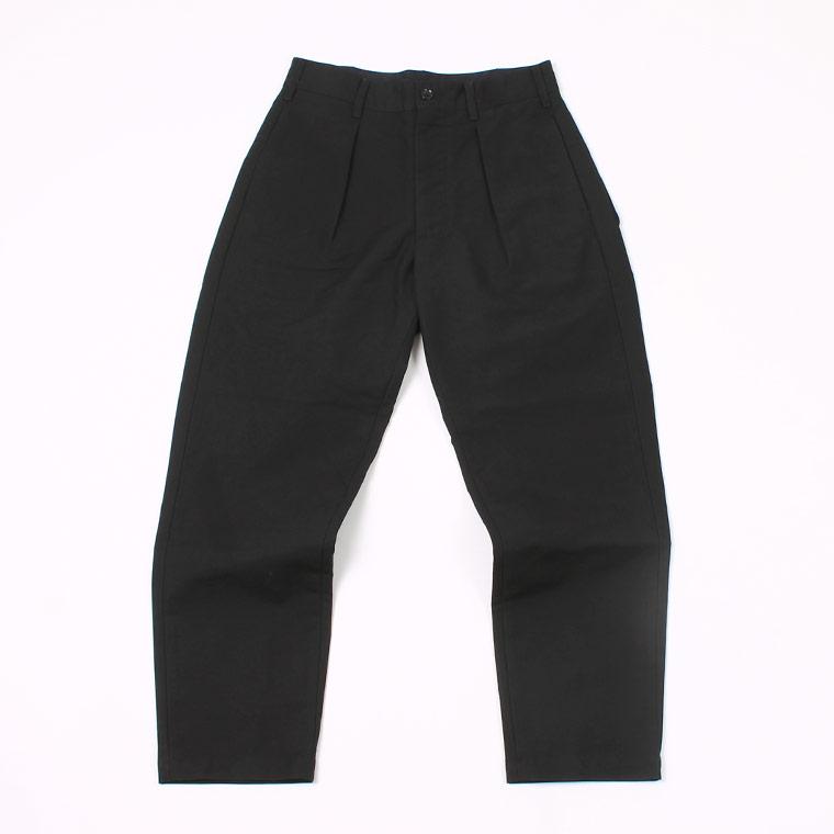 ENGINEERED GARMENTS(エンジニアドガーメンツ) CARLYLE PANT COTTON DOUBLE CLOTH - BLACK