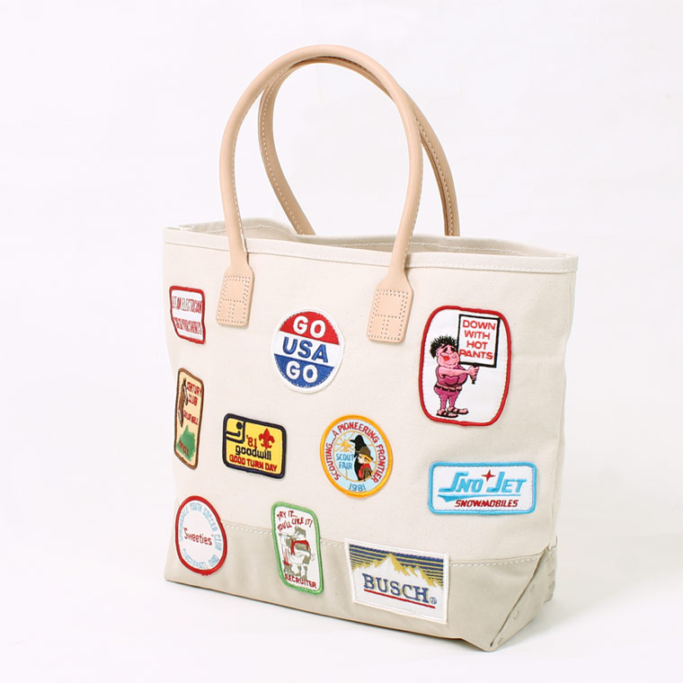 HERITAGE LEATHER (ヘリテイジレザー) VINTAGE PATCH DAY TOTE - NATURAL_SAND SUEDE B