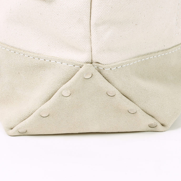 HERITAGE LEATHER (ヘリテイジレザー)  VINTAGE PATCH DAY TOTE - NATURAL_SAND SUEDE C