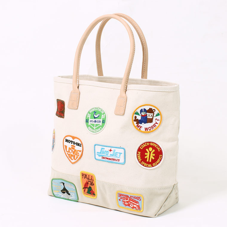 HERITAGE LEATHER (ヘリテイジレザー) VINTAGE PATCH DAY TOTE - NATURAL_SAND SUEDE D
