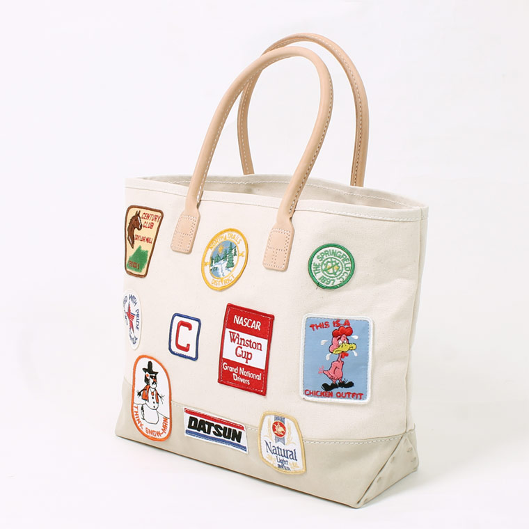 HERITAGE LEATHER (ヘリテイジレザー) VINTAGE PATCH DAY TOTE - NATURAL_SAND SUEDE F