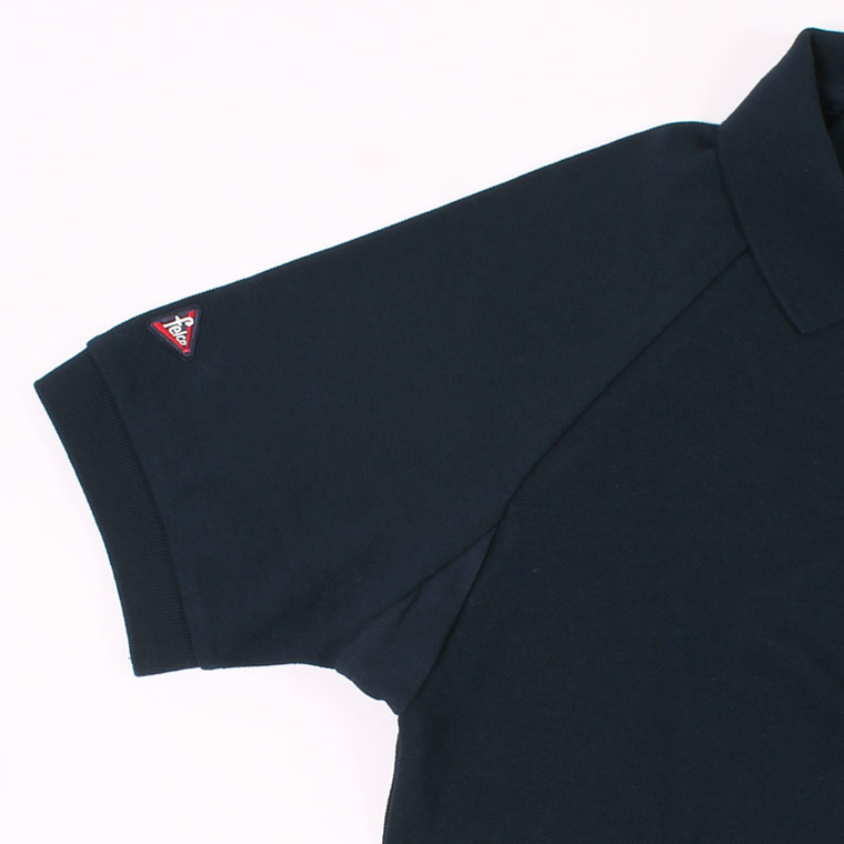 Munsingwear x FELCO (マンシングウェア x フェルコ)  S/S 60'S RAGLAN SLEEVE POLO - NAVY