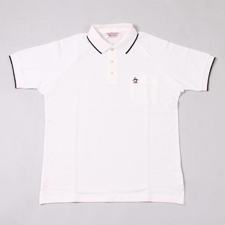 Munsingwear (マンシングウェア)  60'S RAGLAN SLEEVE TIPPED COLLAR POLO - WHITE